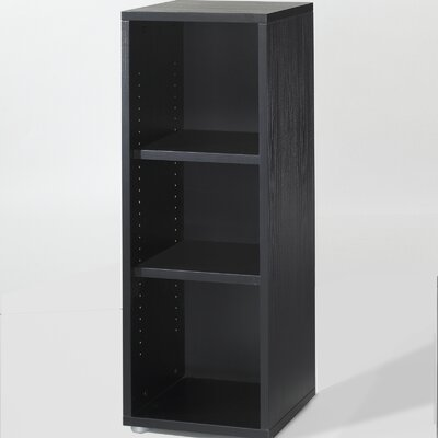 Tvilum Fairfax Short Narrow Bookcase in Black Woodgrain