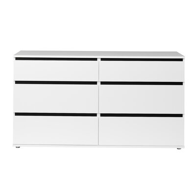 Tvilum Aurora 6 Drawer Double Dresser