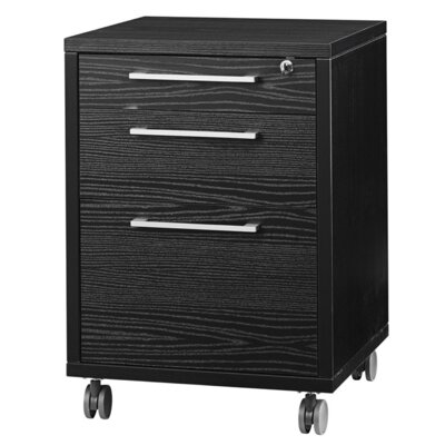 Pierce Office Mobile File in Black Woodgrain