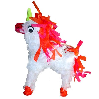 Fetch-It Pets Polly Wanna Pinatas Unicorn Bird Toy