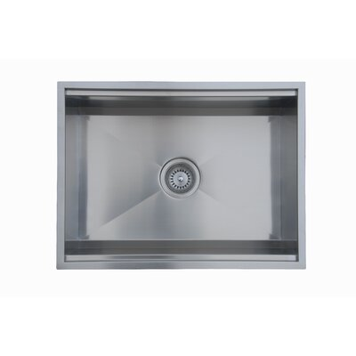 "Ukinox 24.5"" x 18.5"" Zero Radius Single Bowl Kitchen Sink"