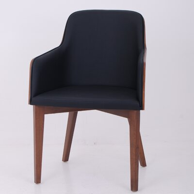Nuans Hudson Arm Chair with Wood Legs