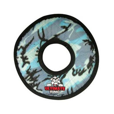 Tuffy's Pet Products Ultimate Ring Dog Toy in Blue Camouflage