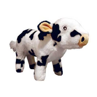 Tuffy's Pet Products Cassie Farm Cow Dog Toy