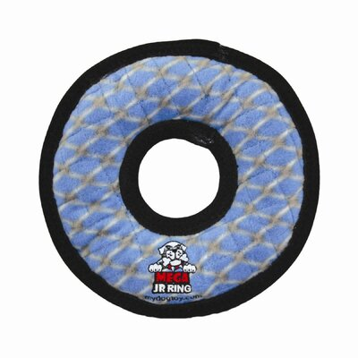 Tuffy's Pet Products Mega Ring Dog Toy - Chain Link Print