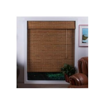 Top Blinds Arlo Blinds Bamboo Roman Shade in Dali Natural