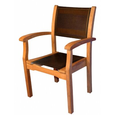 Regal Teak Stacking Arm Chair