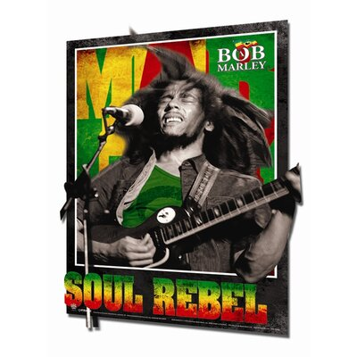 Ace Framing Framed 3D Bob Marley Soul Rebel Poster