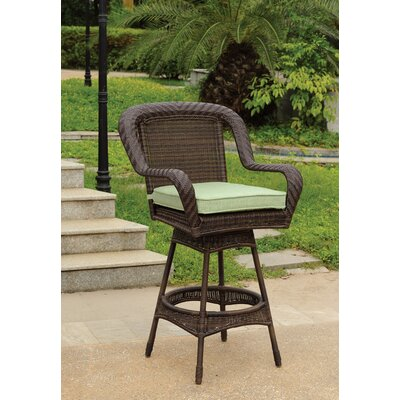 South Sea Rattan Key West Wicker Barstool