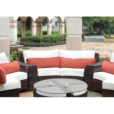 South Sea Rattan Saint Tropez Wicker Curved Loveseat