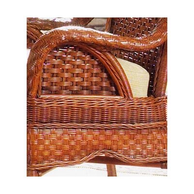 South Sea Rattan Autumn Morning Fabric Arm Chair