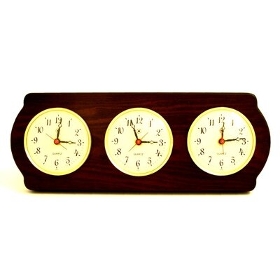 Multizone Clock with 3 Plates