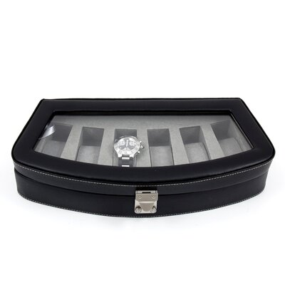 Bey-Berk Six Watch Case in Black Leather