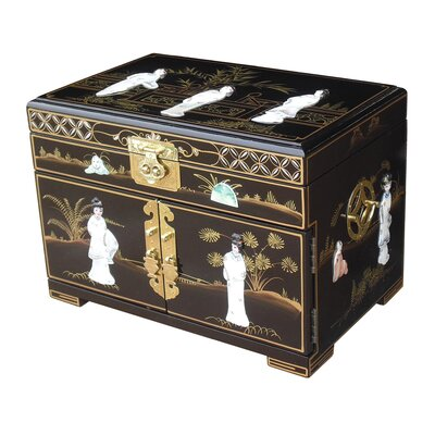 Grand international decor mother of pearl jewellery box ii for Grand international decor