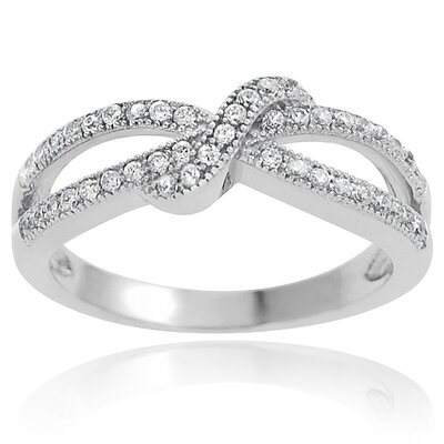 Tressa Collection Sterling Silver Bow Cubic Zirconia Ring