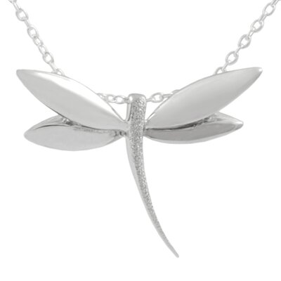 Tressa Collection Sterling Silver Dragonfly Necklace