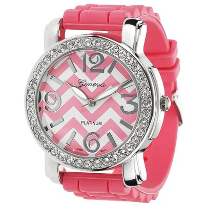 Geneva Platinum Women's Chevron Watch
