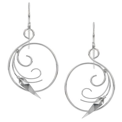 Handcrafted Swirled Dangle Earrings