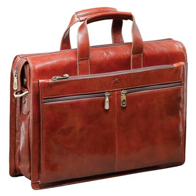 Mancini Signature Classic Leather Laptop Briefcase