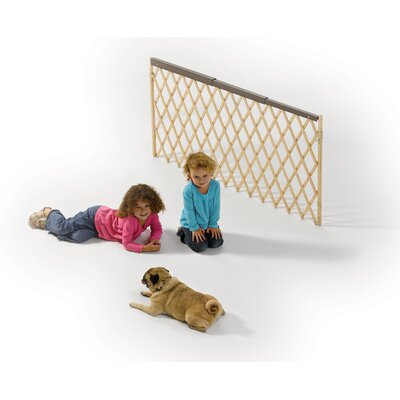 Midwest Homes For Pets Accordion Design Wood Pet Gate in Mocha