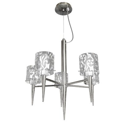 Glam 5 Light Pendant Chandelier