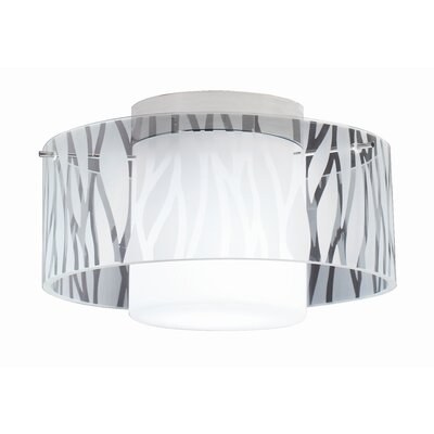 Bazz Duo 1 Light Semi Flush Mount