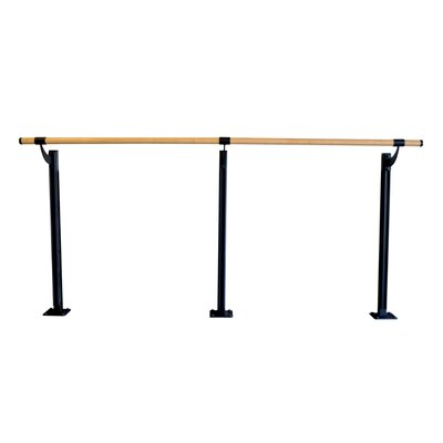 Vita Vibe Floor Barre Series Traditional Wood Single Bar Ballet Barre Kit