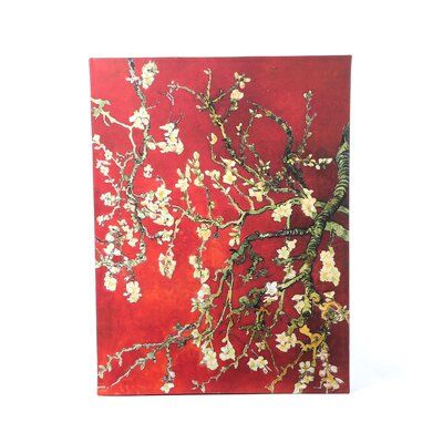 Art Wall Vincent Van Gogh ''Interpretation in Red Blossoming Almond Tree'' Canvas Art