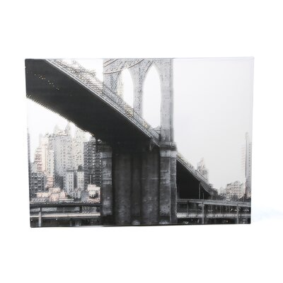 <strong>Art Wall</strong> Linda Parker 'NYC Brooklyn Bridge' Gallery-Wrapped Canvas Wall Art