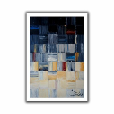 'Grey Squares' by Shiela Gosselin Unwrapped on Canvas