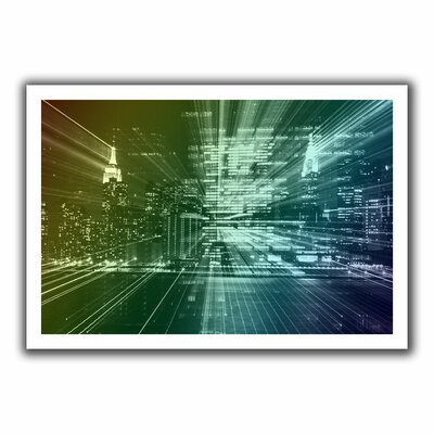'City Lights' by John Black Unwrapped on Canvas
