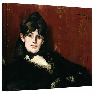 'Berthe Morisot Reclining' by Edouard Manet Gallery-Wrapped on Canvas