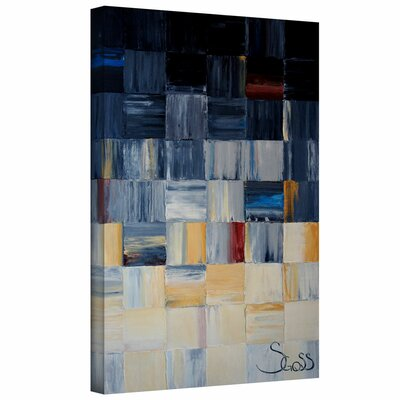 'Grey Squares' by Shiela Gosselin Gallery-Wrapped on Canvas