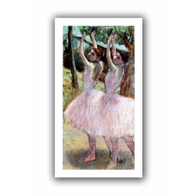 'Dancers in Violet Dresses, Arms Raised' by Edgar Degas Unwrapped on Canvas