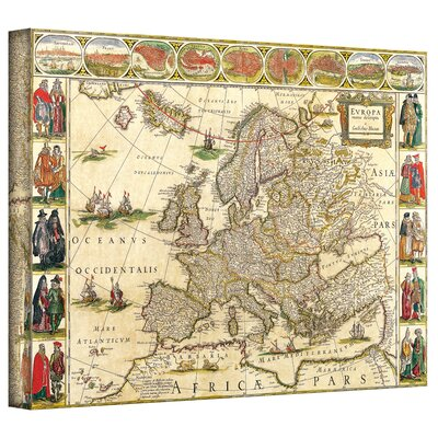 Antique Maps 'Map of Europe' Gallery-Wrapped Canvas Wall Art
