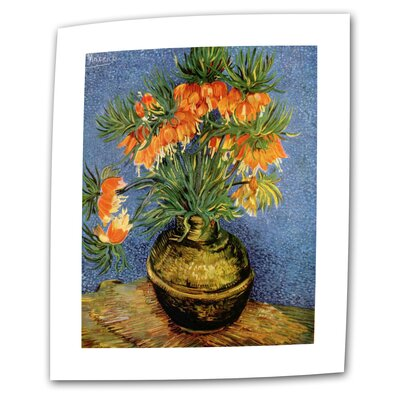 "Art Wall Vincent van Gogh ""Fritillaries"" Canvas Wall Art"