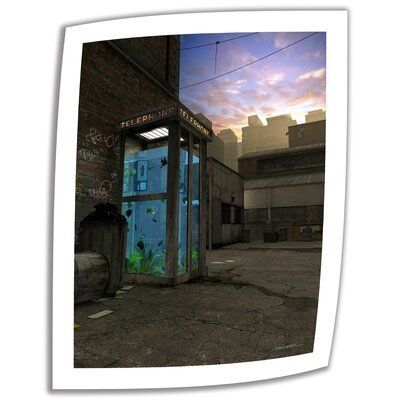 Art Wall Cynthia Decker 'Phone Booth' Unwrapped Canvas Wall Art