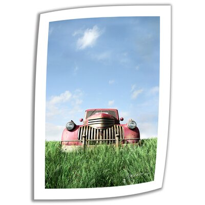 Art Wall Cynthia Decker 'Red Truck' Unwrapped Canvas Wall Art