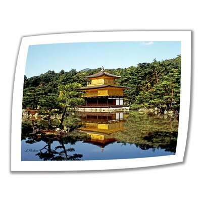 Linda Parker 'Kyoto's Golden Pavilion' Unwrapped Canvas Wall Art