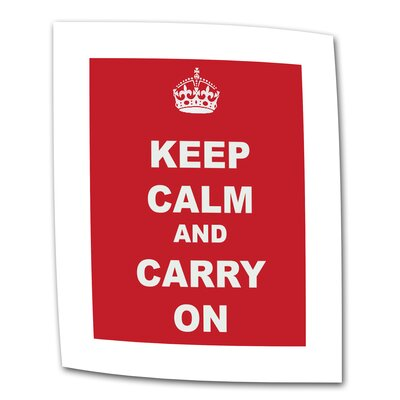 "Art Wall Government of the United Kingdom ""Keep Calm and Carry On"" Canvas Wall Art"