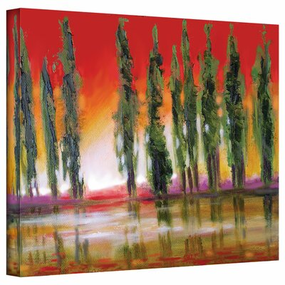 Susi Franco 'Tuscan Cypress Sunset' Gallery-Wrapped Canvas Wall Art