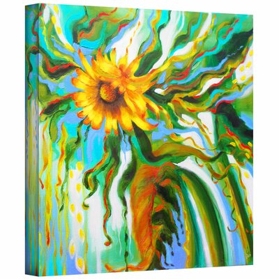 Susi Franco 'Sunflower Melting' Gallery-Wrapped Canvas Wall Art