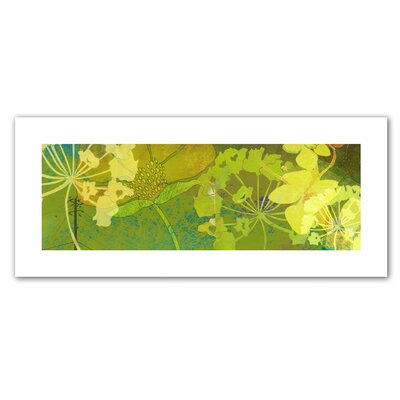 Jan Weiss 'Wildflower Shadows Panel' Unwrapped Canvas Wall Art
