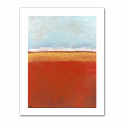 Jan Weiss 'Big Sky Country IV' Unwrapped Canvas Wall Art