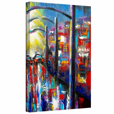 '8 O'Clock Street Lights' by Jan Susi Franco Painting Print Canvas
