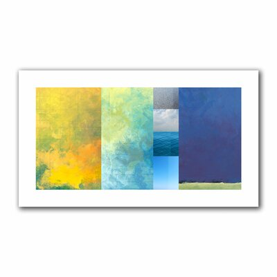 Jan Weiss 'Textured Earth Panel I' Unwrapped Canvas Wall Art