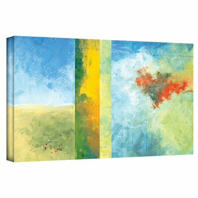 Jan Weiss 'Textured Earth Panel IV' Gallery-Wrapped Canvas Wall Art