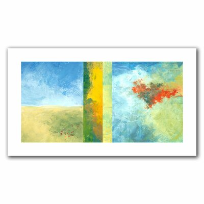 Jan Weiss 'Textured Earth Panel IV' Unwrapped Canvas Wall Art