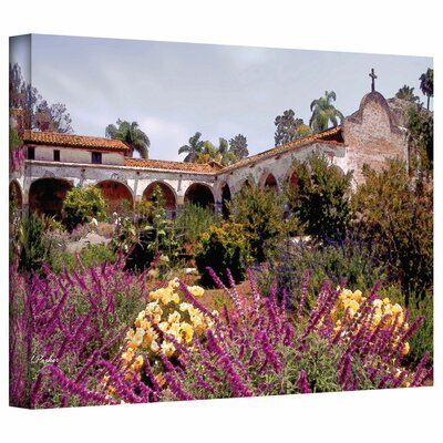 Linda Parker 'Gardens of Mission San Juan Capistrano' Gallery-Wrapped Canvas Wall Art