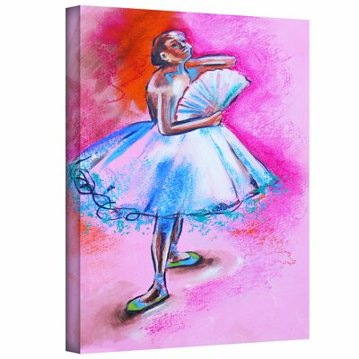 Art Wall Susi Franco 'Interpretation of Ballerina with Fan by Degas' Gallery-Wrapped Canvas Wall Art